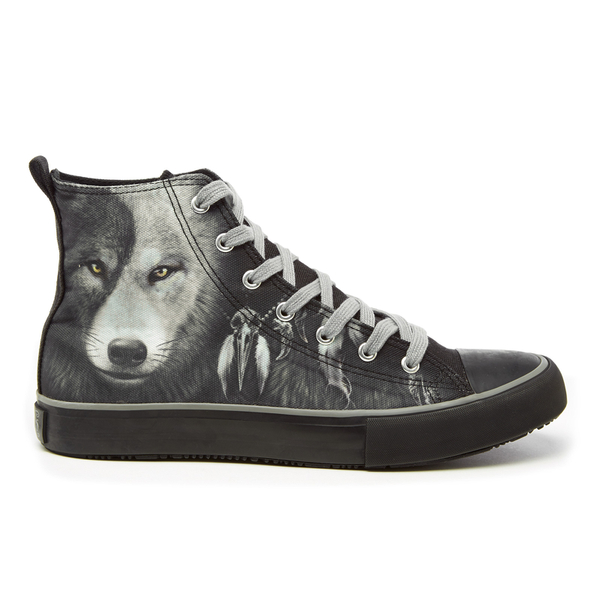 Spiral Men's Wolf Chi High Top Lace Up Sneakers - Black