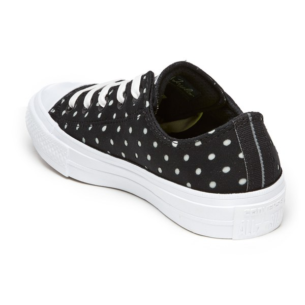 4a07ce75ab0d Converse Women s Chuck Taylor All Star II Ox Trainers - Black White  Image 4