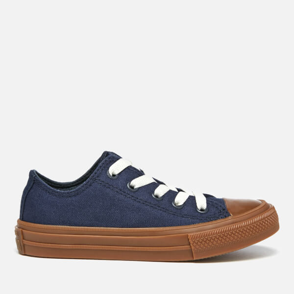 Converse Kids' Chuck Taylor All Star II Ox Trainers - Obsidian/Gum