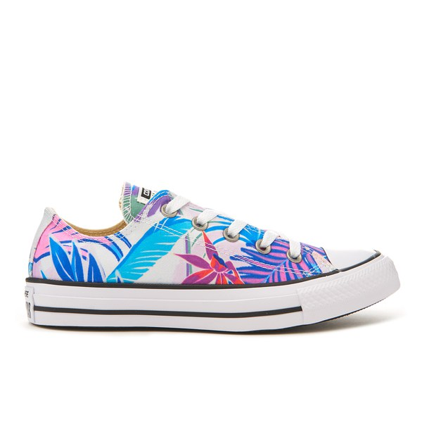 Converse Women's Chuck Taylor All Star Ox Trainers - Fresh Cyan/Magenta Glow/White