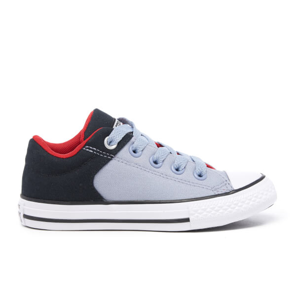 Converse Kids' Chuck Taylor All Star High Street Trainers - Black/Blue Granite