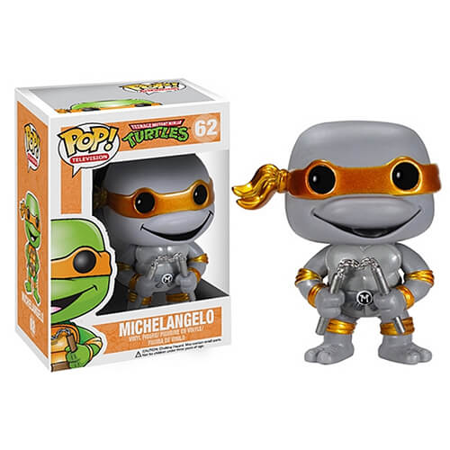 Funko Michelangelo (Grayscale Metallic Mask) Pop! Vinyl