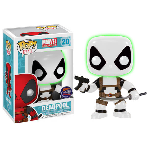 Funko Deadpool B&W Glow Head Error (Matt's Cavalcade Of Comics) Pop! Vinyl