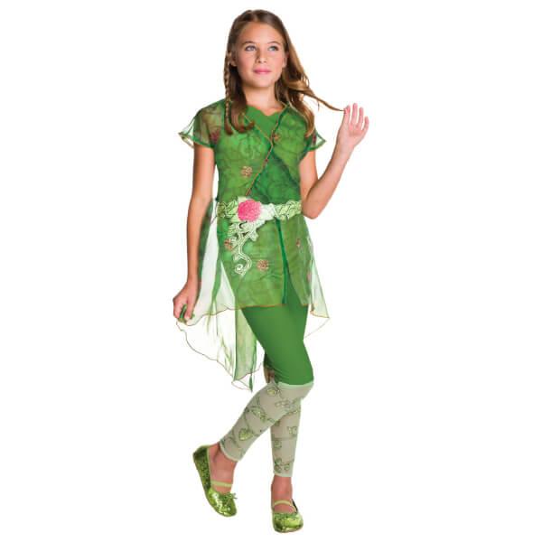 DC Comics Girls' Poison Ivy Fancy Dress Costume