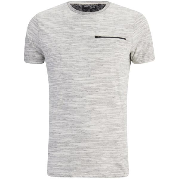T-Shirt Homme Gustav Poche Zip Brave Soul -Gris Clair