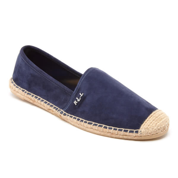 lauren ralph lauren women 39 s danita suede flat espadrilles modern navy free uk delivery allsole. Black Bedroom Furniture Sets. Home Design Ideas