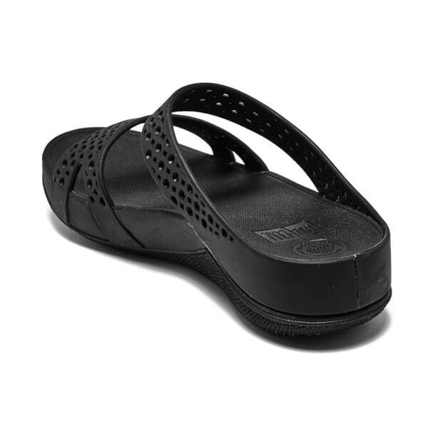 416352b66974 FitFlop Women s Welljelly Z-Slide Sandals - All Black  Image 4
