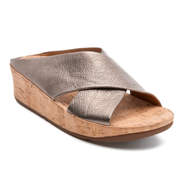 b627e33ff01bc FitFlop Women s Kys Leather Slide Sandals - Bronze  Image 5