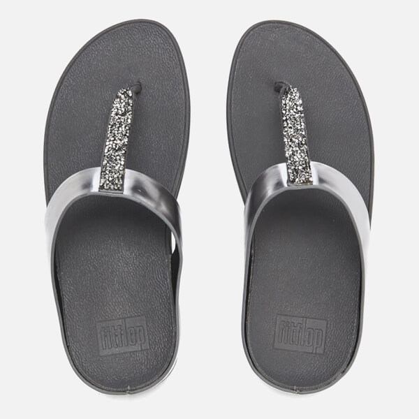 FitFlop Women's Fino Toe-Post Sandals - Pewter