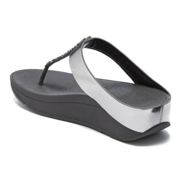 fffe5202c276fa FitFlop Women s Fino Toe-Post Sandals - Pewter  Image 4