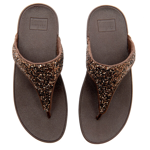 e7230dd56528ac FitFlop Women s Glitterball Toe-Post Sandals - Bronze  Image 3