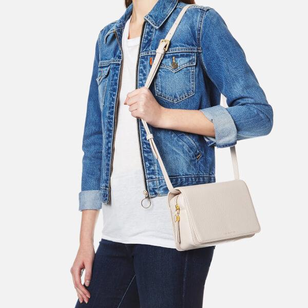 Lulu Guinness Women s Rene Grainy Leather Cross Body Bag - Porcelain  Image  2 2847b89f47952