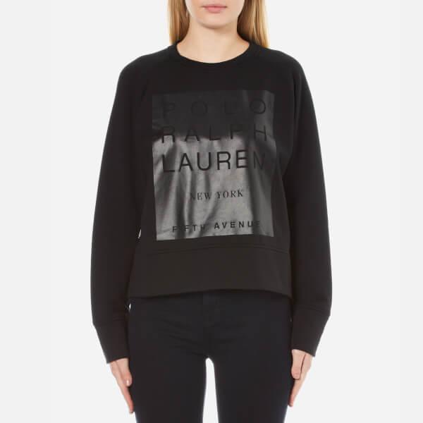 Polo Ralph Lauren Women's Crew Neck Modern Fleece - Polo Black