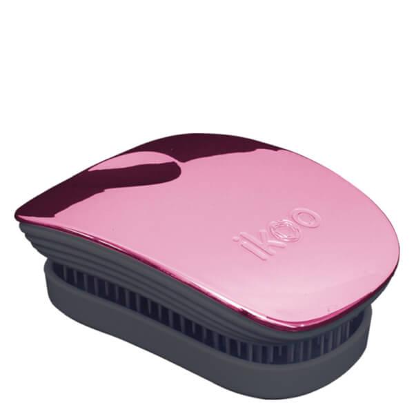 ikoo Pocket Detangling Hair Brush - Black/Rose Metallic