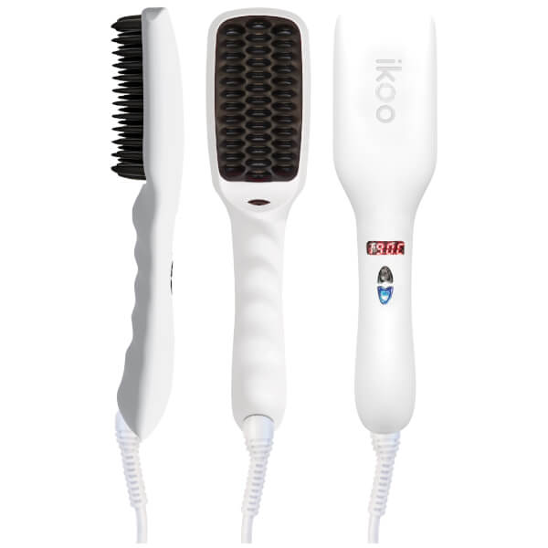 ikoo E-Styler Hair Straightening Brush - Platinum White