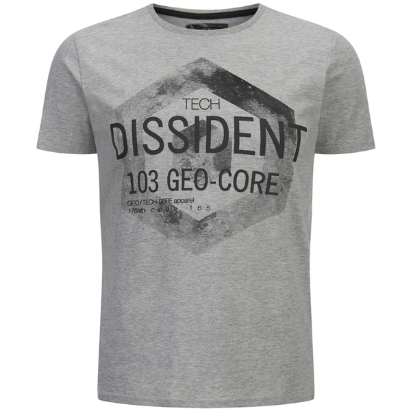 Dissident Men's Scarab T-Shirt - Light Grey Marl