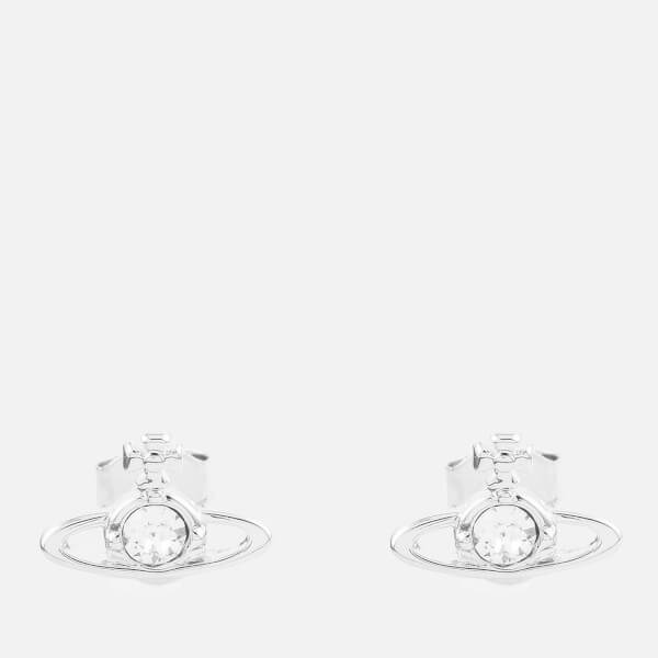 Vivienne Westwood Women's Nano Solitaire Earrings - Crystal/Imitation Rhodium