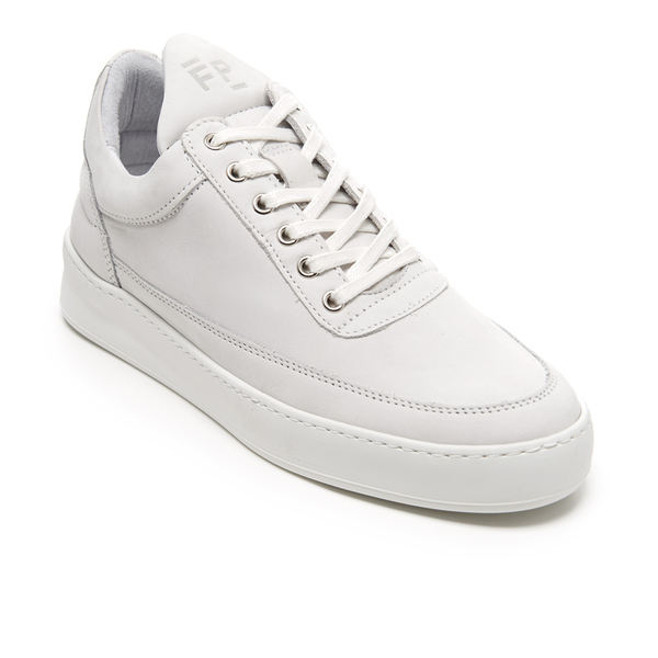 White Low Plain Sneakers Filling Pieces MWJdcAptC