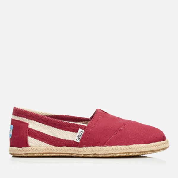TOMS Women's University Classics Slip-On Pumps - Red Stripe