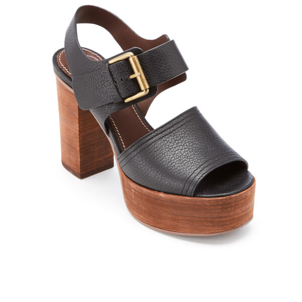 Black leather sandals See By Chlo tLlsSQ