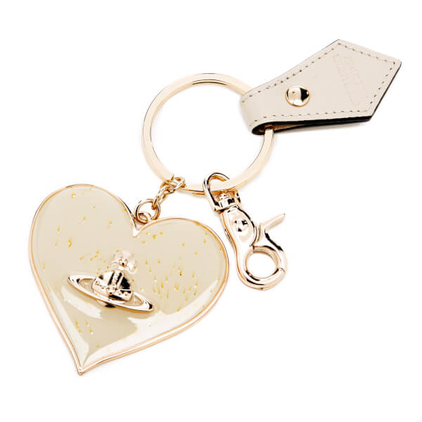Vivienne Westwood Women's Mirror Heart Keyring - Beige