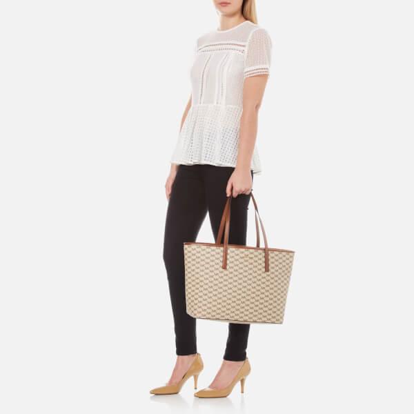 8a81f83b0c03 MICHAEL MICHAEL KORS Women s Emry Large Top Zip Tote Bag - Natural Luggage   Image