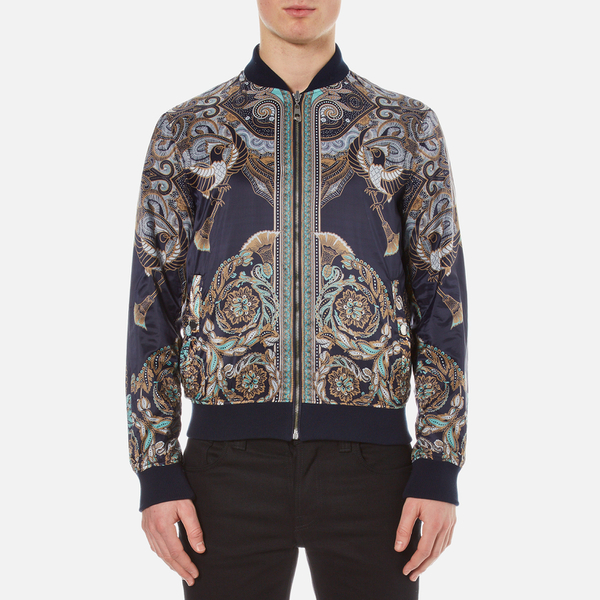 Versace Collection Men S Printed Reversible Bomber Jacket
