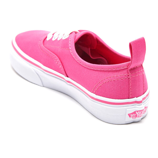 Vans Kids  Authentic Elastic Lace Trainers - Hot Pink True White  Image 4 ab5b3951f