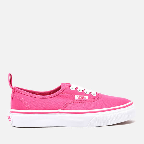 Vans Kids' Authentic Elastic Lace Trainers - Hot Pink/True White