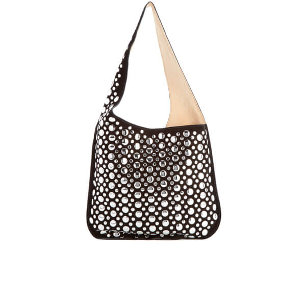 Elizabeth and James Women's Courier Bag with Rivets - Black