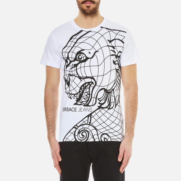 Versace Jeans Men's Lion Print T-Shirt - White: Image 1
