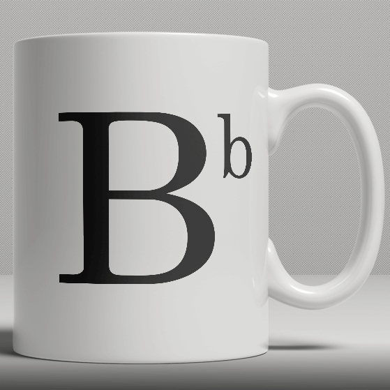 Alphabet Ceramic Mug - Letter B
