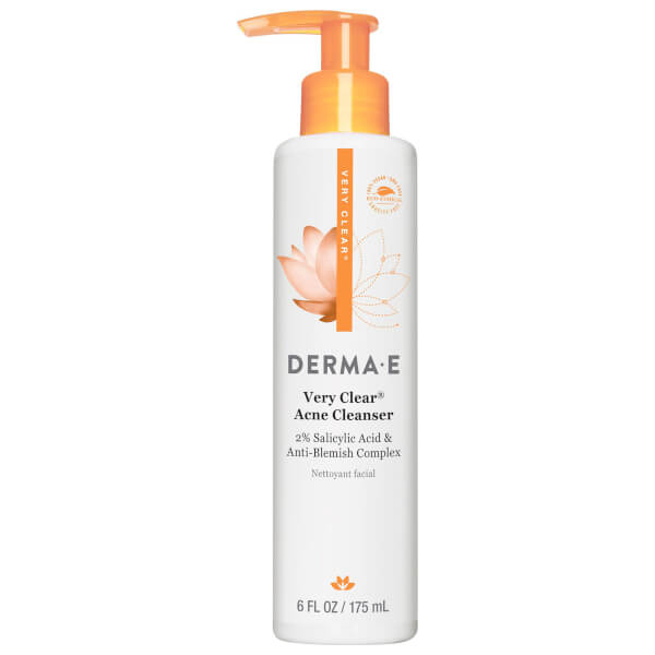 derma e Very Clear Cleanser Anti-Blemish Complex with Tea Tree and Willow Bark
