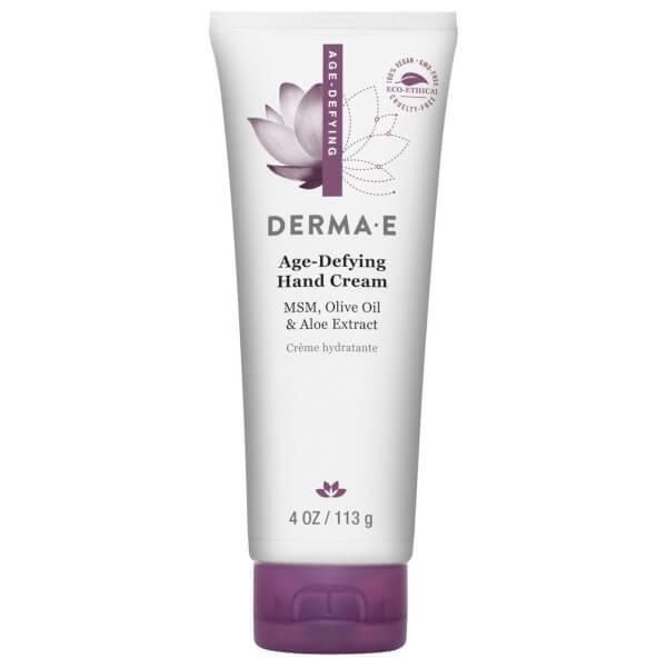 derma e Age-Defying Hand Creme with MSM Green Tea Olive Aloe and Vitamin E