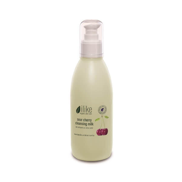 ilike organic skin care Sour Cherry with Blackthorn Cleansing Milk