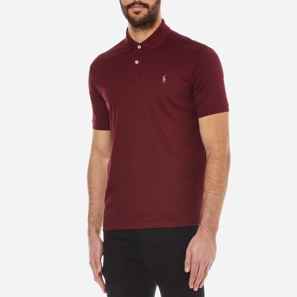 6aae5ac5b ... germany polo ralph lauren mens custom fit pima cotton polo shirt  classic wine image 2 b6842