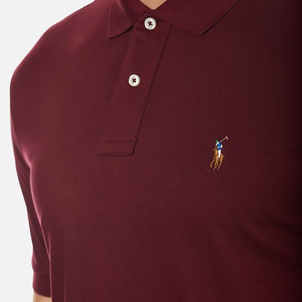 043edf0e5 ... order polo ralph lauren mens custom fit pima cotton polo shirt classic  wine image 5 07291