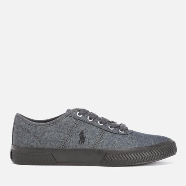 Polo Ralph Lauren Men's Tyrian Vulcanised Canvas Trainers - Vintage Grey