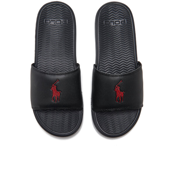 8c09a93b16c8 Polo Ralph Lauren Men s Rodwell Slide Sandals - Black Mens Footwear ...