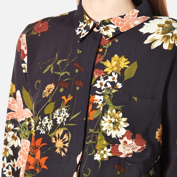 Gestuz Women\'s Cally Floral Print Shirt - Multi Colour Flower Womens ...
