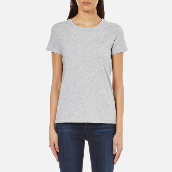 Gant women 39 s cotton elastane crew neck t shirt light for Cotton and elastane t shirts