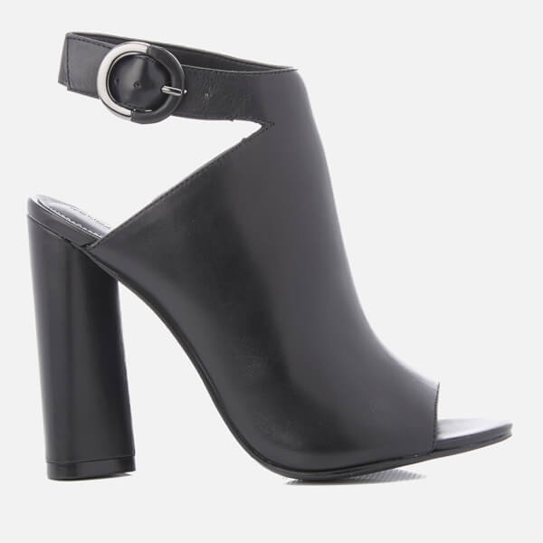 Kendall + Kylie Women's Gigi Leather Heeled Sandals - Black