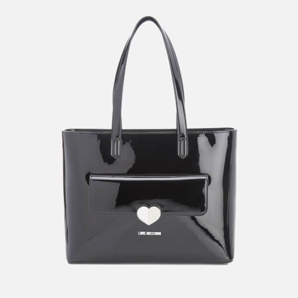 Love Moschino Women's Love Tote Heart Bag - Black