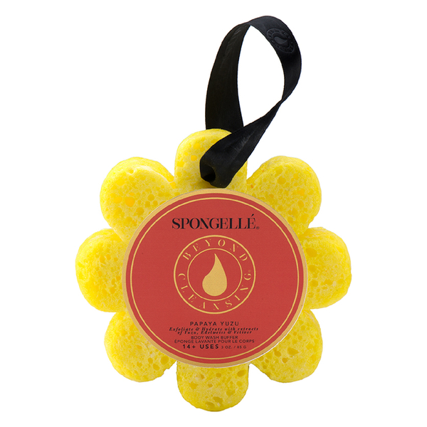 Spongellé Wild Flower Body Wash Infused Buffer - Papaya Yuzu