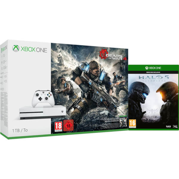 xbox one s 1tb with gears of war 4 and halo 5 games. Black Bedroom Furniture Sets. Home Design Ideas