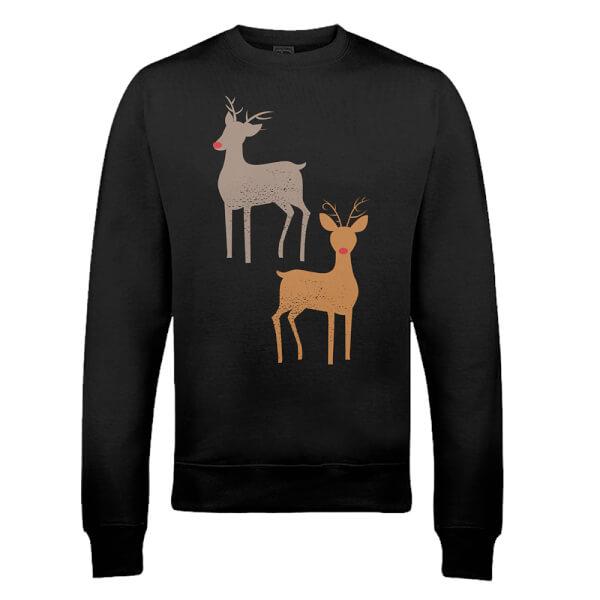 Sweat de Noël Homme Rudolphe - Noir