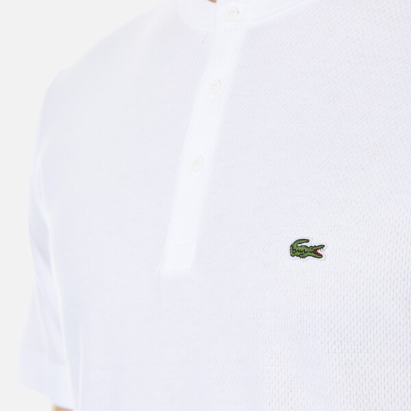 61f2af3e6bf0 Lacoste Men s Henley Collar T-Shirt - White Clothing