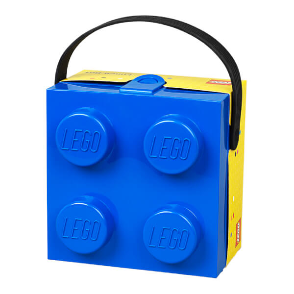 LEGO Classic Lunch Box with Handle (4 Knob) - Bright Blue Toys | Zavvi