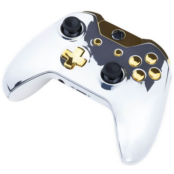 Xbox One Controller - Chrome Silver & Gold Buttons Games ...