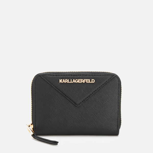 Karl Lagerfeld Women's K/Klassik Small Zip Wallet - Black